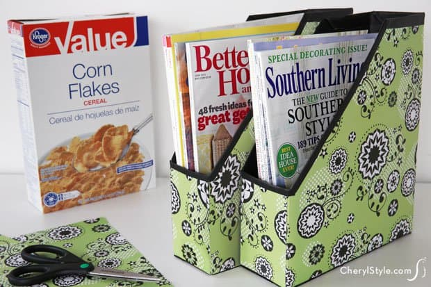 Make Magazine Files From Cereal Boxes