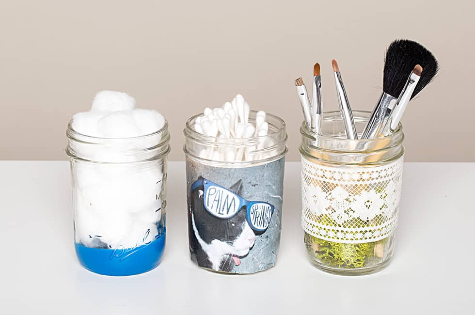 Makeup Storage Jars