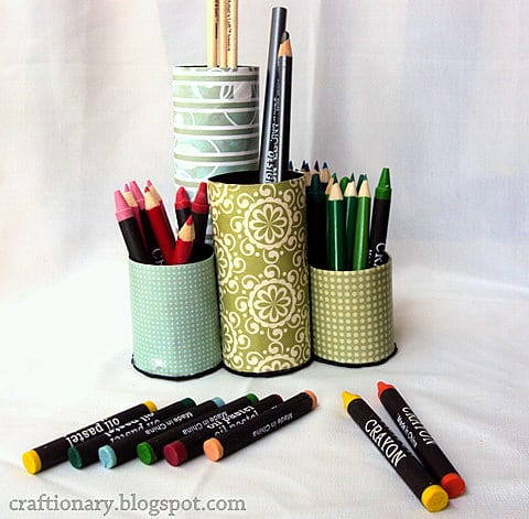 Paper Towel Toilet Roll Pen Pencil Organizer