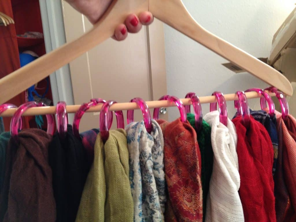 Shower Ring Scarf Organizer