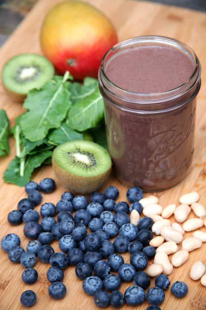 Blueberry Mango Kiwi Smoothie - Smoothie Recipes To Boost Your Fruit & Veg Intake