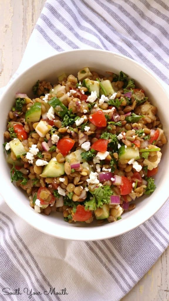 Mediterranean Lentil Salad with Fresh Vegetables