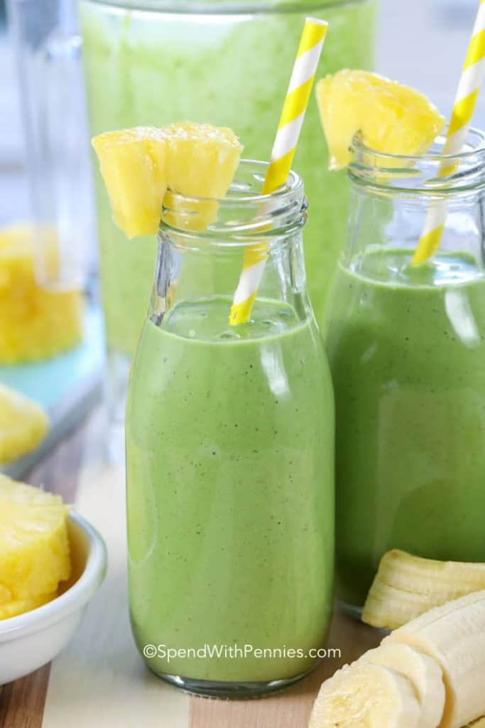 Pineapple, Kale & Banana Green Smoothie - Smoothie Recipes To Boost Your Fruit & Veg Intake