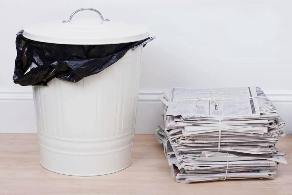 deep clean your kitchen bin