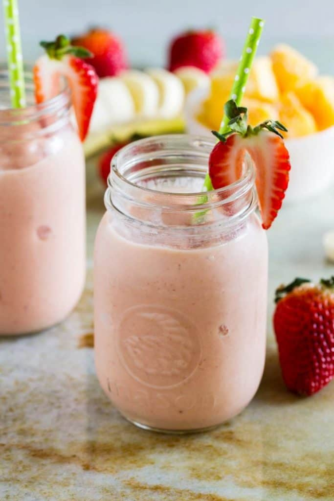 Smoothie Recipes To Boost Your Fruit & Veg Intake - Tropical Fruit Smoothie